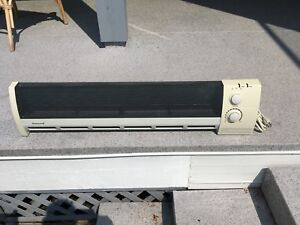 Baseboard electric heater