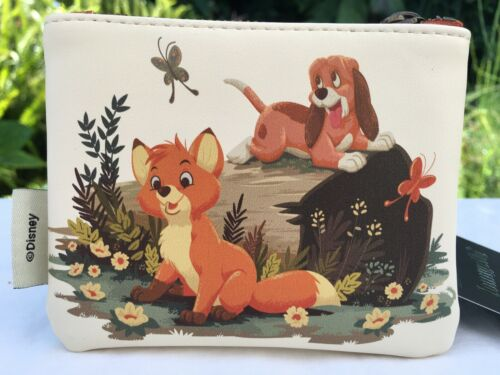 Disney Loungefly The Fox & The Hound Tod & Copper Coin Purse Cardholder NWT