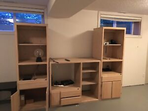 Wooden entertainment stand