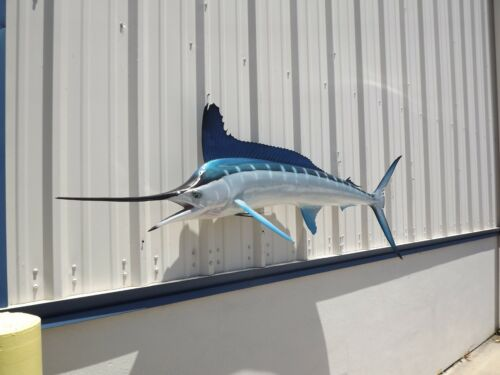 """87"""" White Marlin Two Sided Fish Mount Replica - 10 Business Day Production Time"""