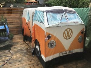 VW Volkswagen camping tent orange awesome!