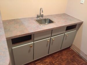 Small wet bar  kitchen sink counter top