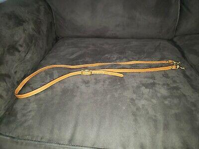 Dooney and Bourke Tan Florentine Leather Adjustable Slim Crossbody...