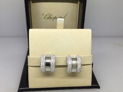 CHOPARD LA STRADA WHITE GOLD & DIAMOND EARRINGS 84/6433-41 NEW $27,140 RETAIL!!!