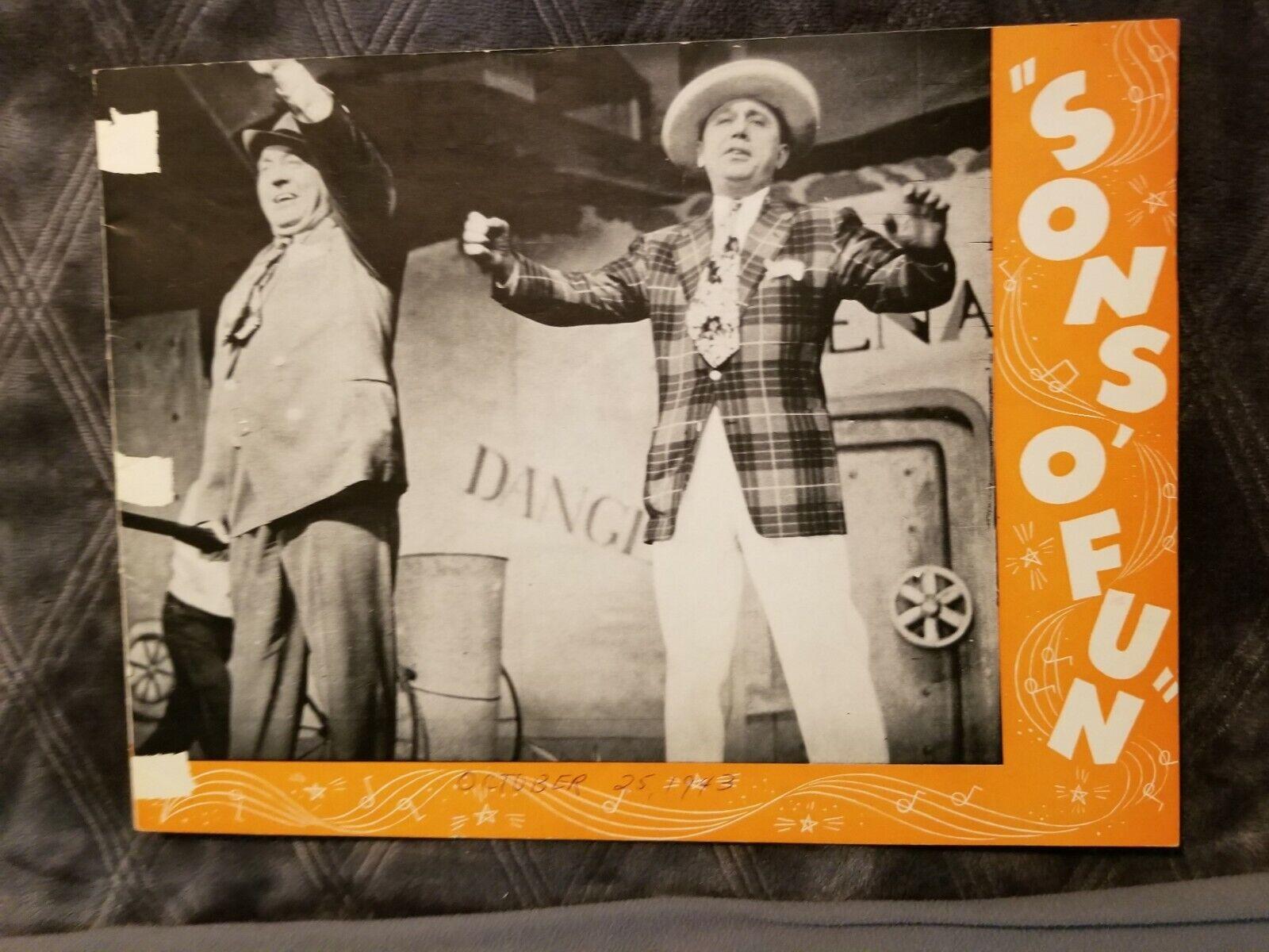 Sons of Fun Souvenir Program 1943 + newspaper article