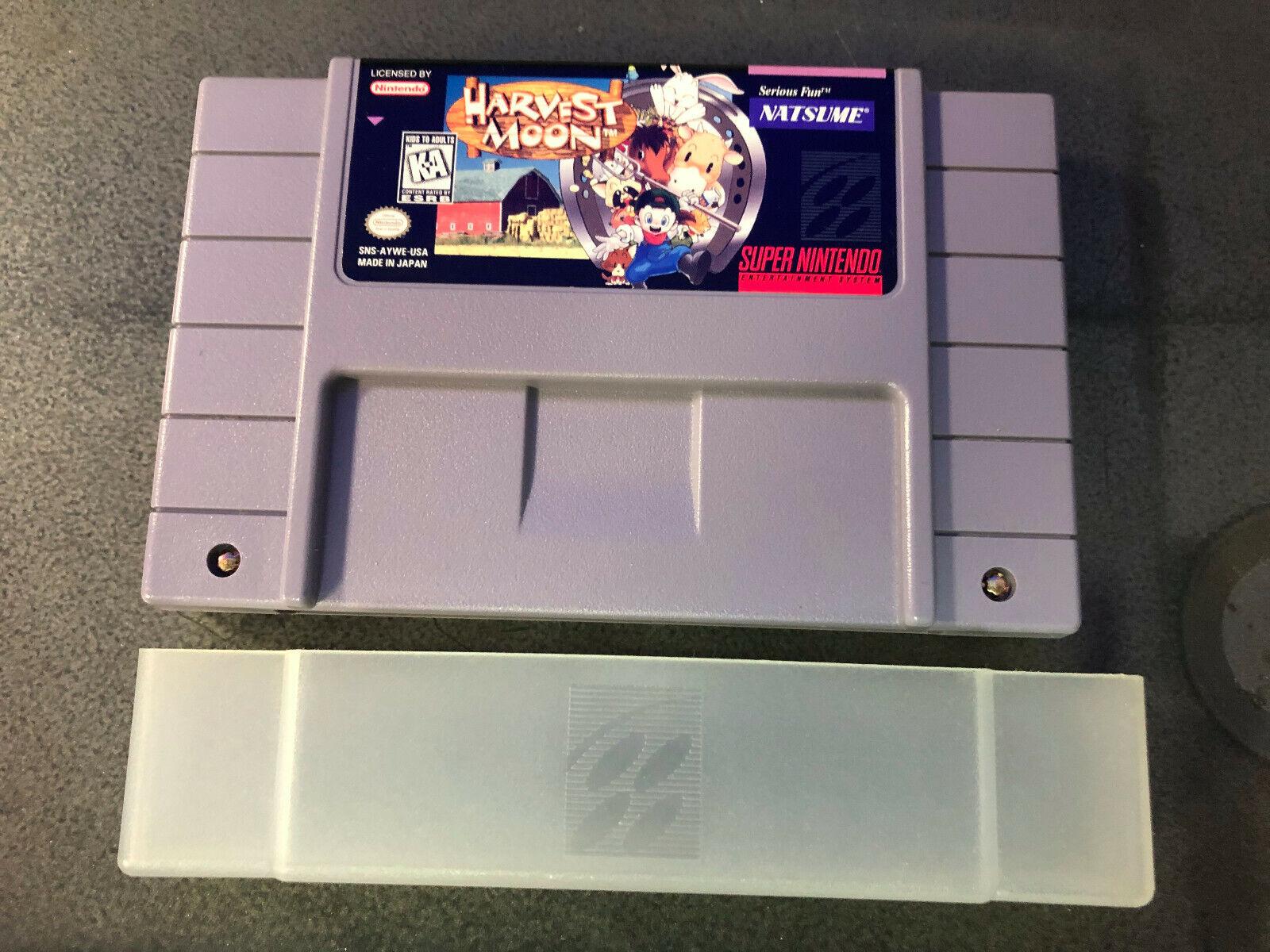 Harvest Moon Super Nintendo Entertainment System SNES, 1997 Authentic Saves - $355.00