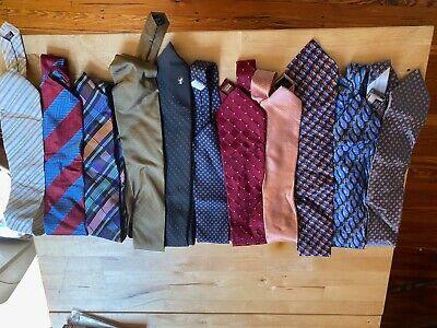 Lot of 11 vintage  brand name including michael kors, versace men's ties