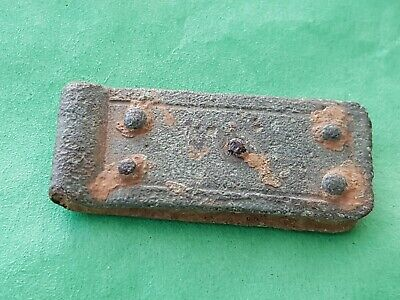 Lovely little Roman bronze Strapend five rivets. Please read description. L160i