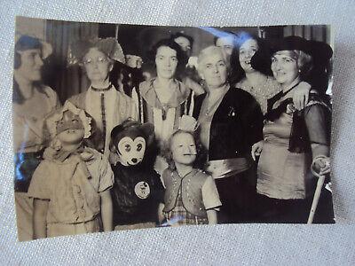 1930s Kids Halloween Costumes (Halloween Children in Costume Party Black & White Photo 1930s Original)