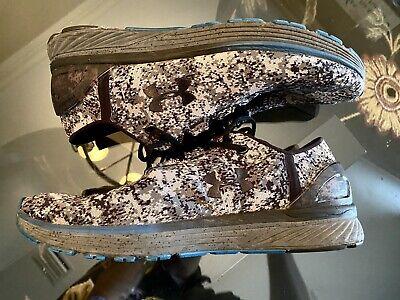 Under Armour Mens 11 Blue Camo Shoes
