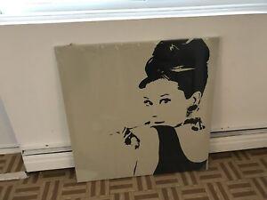 Audrey Hepburn canvas/ painting