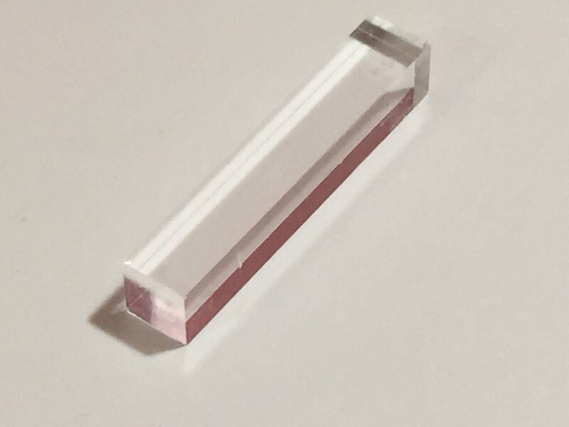 2pcs LYSO Scintillator Crystal for Gamma Radiation Scintillation Detector naitl