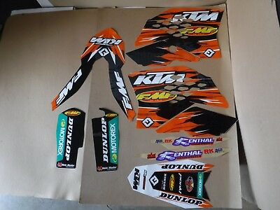 FLU DESIGNS TEAM  KTM GRAPHICS SX SXF 07 08 09 10 & EXC  XCWF XCW 08 09 10 11