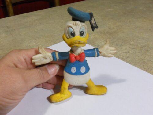 """Donald Duck Rubber Figure 5"""" tall made in Hong Kong"""