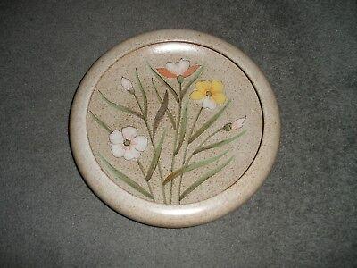 FLOWER Garden Gloss Birdbaths Bird Bath Clay Bowl Rolled Rim Tan Yellow Green