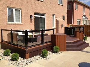 Aluminum railings glass privacy fence gate column handrail