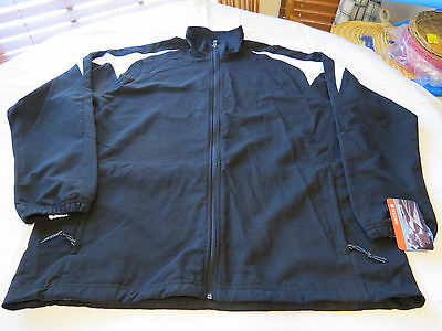 Holloway Athletic wind/water resistant sportswear jacket XL Mens black NOS NWT