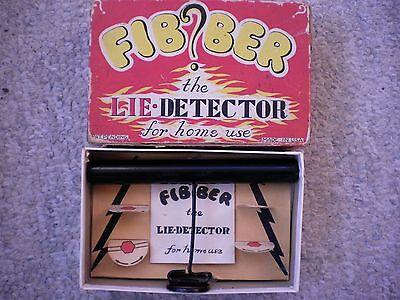 Vintage Fibber Lie Detector for home use! Midcentury Party Gadget! Box & Manual