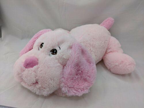 "Animal Alley Sammie Pink Dog Plush 14"" Lying Flat Stuffed Animal Toy"