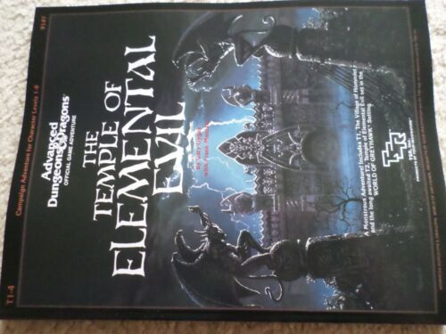 the Temple of Elemental Evil T1-4 w/maps inside  Dungeons & Dragons TSR