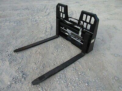 48 Adjustable Hydraulic Sliding Walk Through Pallet Fork Set Skid Steer Loader