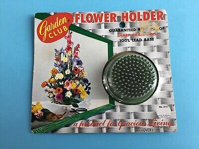 Vintage garden Club  Metal Flower Holder Frog In Package NEW Old Stock  - Unused Vintage Flower Frog
