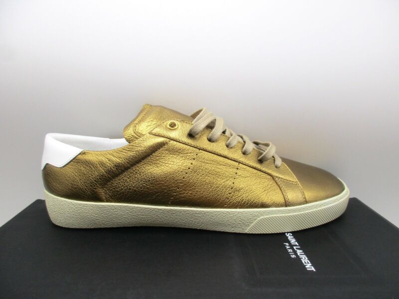 4b6b58ba Saint Laurent YSL Mens SL06 Low Top Leather Sneakers 472370 43 | eBay