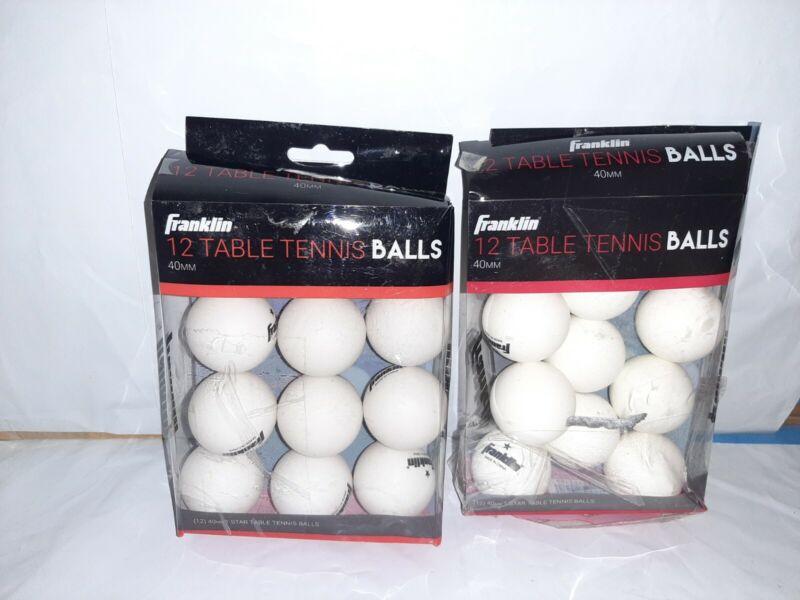 2 packs table tennis balls ping pong / beer pong 40mm Franklin 24 total balls