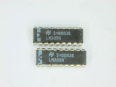 Lm389n Original National Semiconductor 18p Dip Ic 2 Pcs