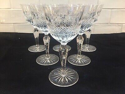 3 verres à vin en cristal diamants taillés. H: 180 mm  Cristal de Lorraine