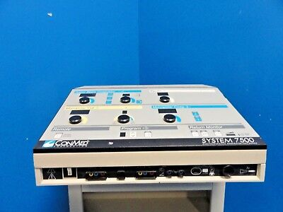 Conmed 7500 Electrosurgical Generator W Abc Mode 13-0146 Ar Footswitch 15132