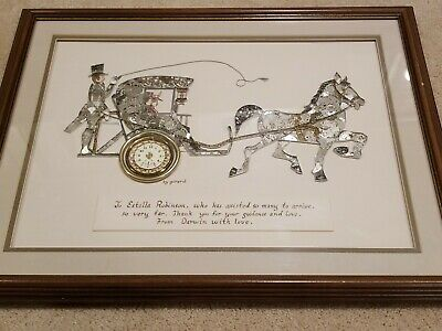 Vintage Girard Senspli Watch Horse and Carriage Art Collage Steampunk
