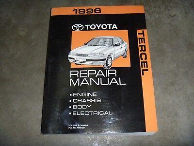 1996 Toyota Tercel Coupe Sedan Shop Service Repair Manual DX 1.5L