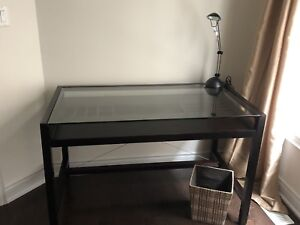 Beautiful Wooden Desk with Glass Top