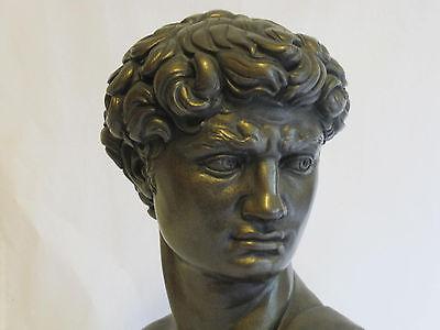 Vintage Austin Productions Bust Sculpture Michelangelo's David 1966 Signed