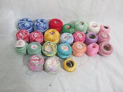 Mixed Lot of 24 Balls Crochet & Tatting Thread