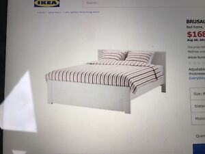 DOUBLE BED, mattress, bed base