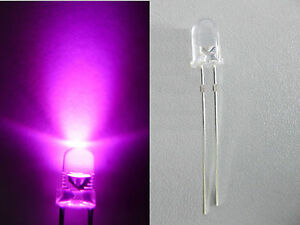 10pcs 5mm Pink Super Bright LED 3V 6V 9V 12V With FREE RESISTOR PK5L amy