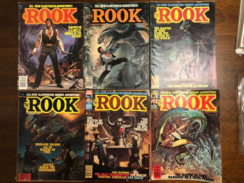 The Rook Magazine Lot Of 6 #2,4,5,6,7,14 Warren 1980-1982