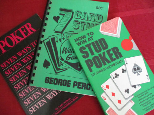 Poker Stud Poker Gambling Vintage Lot Winning Card Games 1979