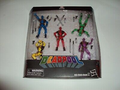 "Marvel Legends Series Deadpool RAINBOW SQUAD 5-Pack NEW 3.75"" Figure Set Hasbro"