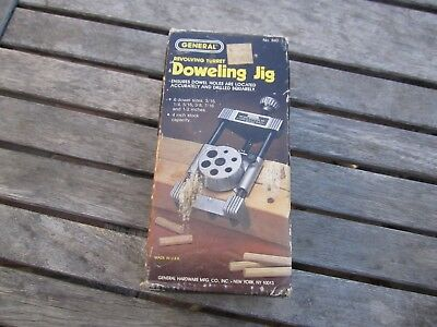 General 840 Revolving Turret Wooden Doweling Jig, Made in USA