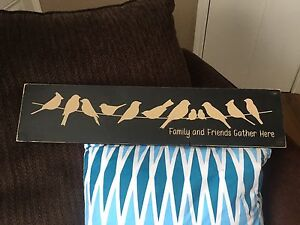 """Hand painted & Handmade """"Family & Friends"""" Wooden Signs"""