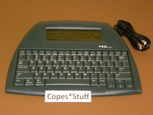 Alphasmart Neo Portable Word Processor w/ USB Cable