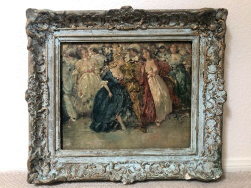 🔥 RARE Antique 19th c. American Impressionist Oil Painting - Dujan