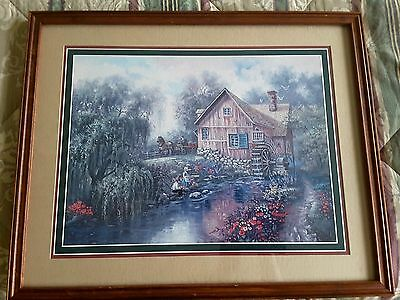 """HOME INTERIORS """"OLD MILL""""  PICTURE 17"""" X 21"""""""