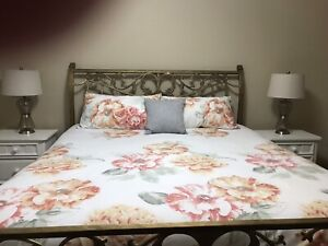 BEAUTIFUL KING IRON BED...SOLD