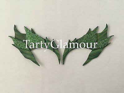 Cosplay Poison Ivy Costume (Poison Ivy Eyebrows Shaded Glitter Leaves, Eye mask, Cosplay, Poison Ivy)