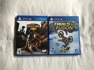 PS4 games for sale! (inFAMOUS, Trials Fusion)