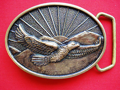 1978 Vintage  Eagle Solid Brass Belt Buckle